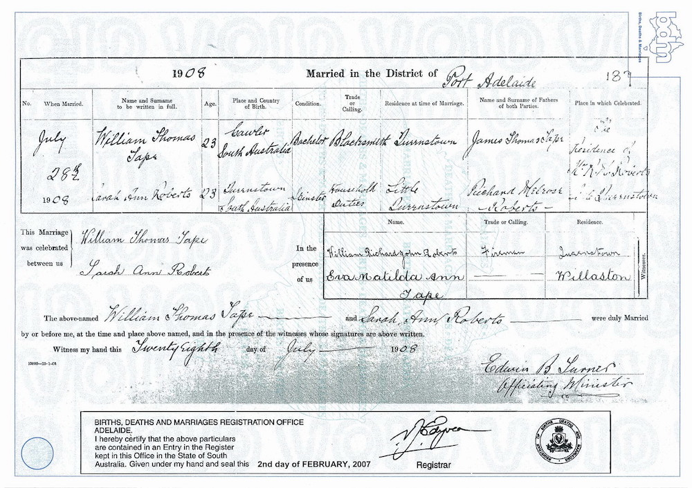 Family History: Australian BDM - official and alternatives